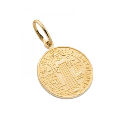 Medalik św. Benedykta złoty