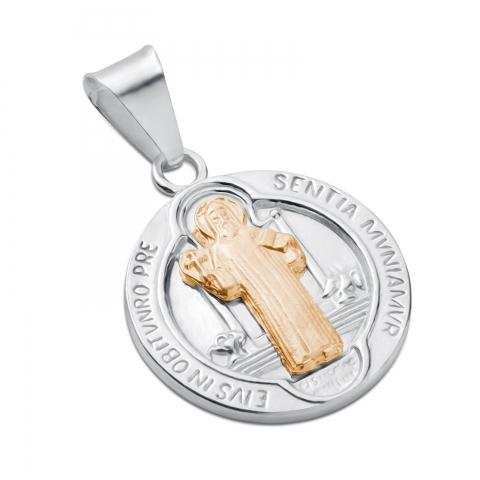 Medalik św. Benedykta złocony
